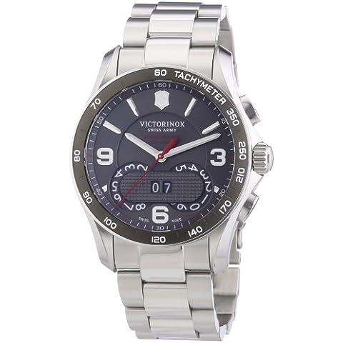 Victorinox Swiss Army  Chrono Classic - Reloj de cuarzo para hombre, con correa de acero inoxidable, color