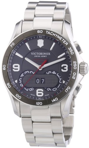 Victorinox Swiss Army Men's Quartz Watch Chrono Classic 241618 with Metal Strap