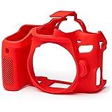 easyCover Silicon Protective Case for Canon 77D Camera, Red