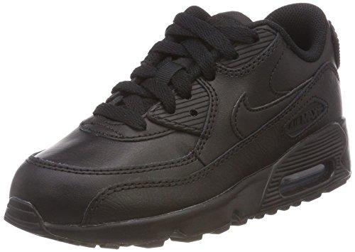Nike Jungen Air Max 90 Leather (PS) Traillaufschuhe, Schwarz Black 001, 33 EU (Nike Air Jordans Kinder)