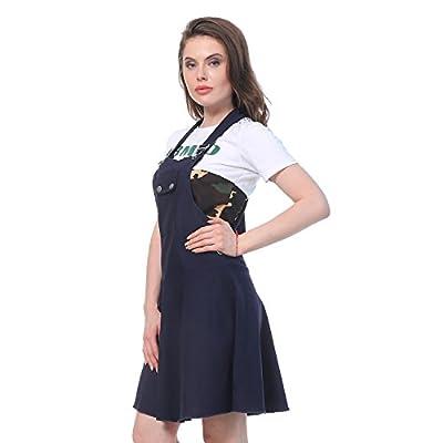 DIMPY GARMENTS Women's Cotton Lycra Dungaree Skirt