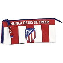 Atletico De Madrid - Estuche portatodo triple de atletico de madrid (Safta 811758744)