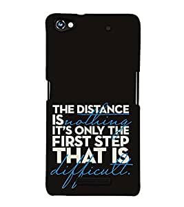 Fuson Designer Back Case Cover for Micromax CanvasHue2A316 (The distance is nothing)