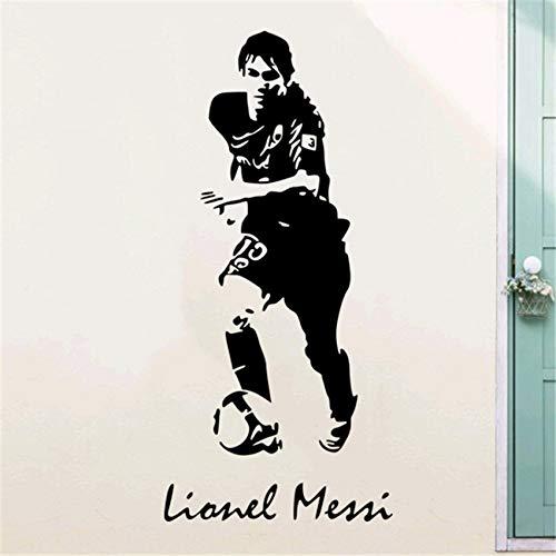 jiushizq Fußballstar Silhouette Wandaufkleber Bar Gym Ktv Thema Restaurant Hintergrund Wanddekoration Aufkleber Papier Schwarz 90 x 42 cm