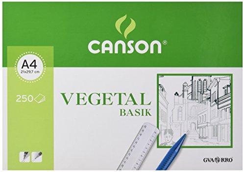 Guarro Canson 200406219 - Papel vegetal, 250 hojas, A4, 90 g