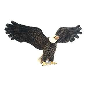 Peluche aigle américain 75 cm