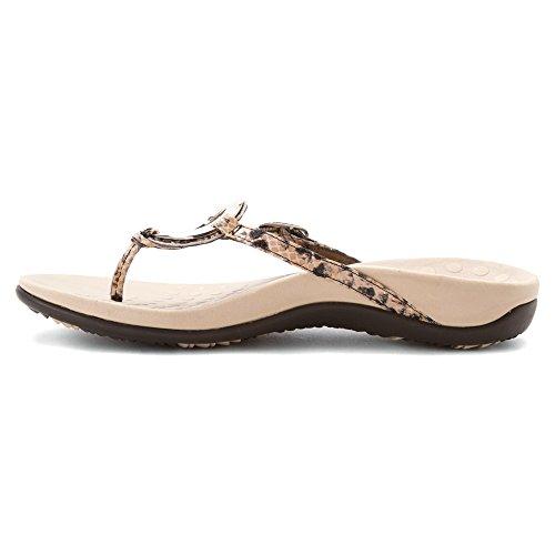Vionic Womens Karina Leather Sandals Beige