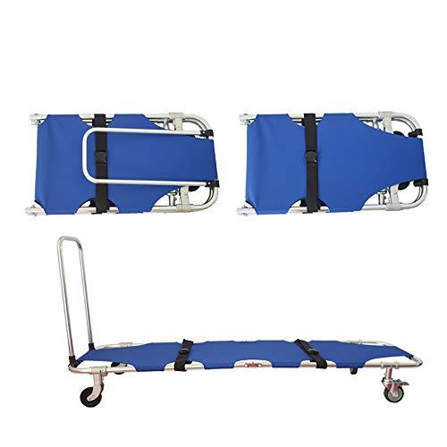 SUN RDPP Bahren Faltende tragbare medizinische Bahre-Aluminiumlegierung mit der Vier Rad-drückbaren Rettung für Krankenhauspatiententransport