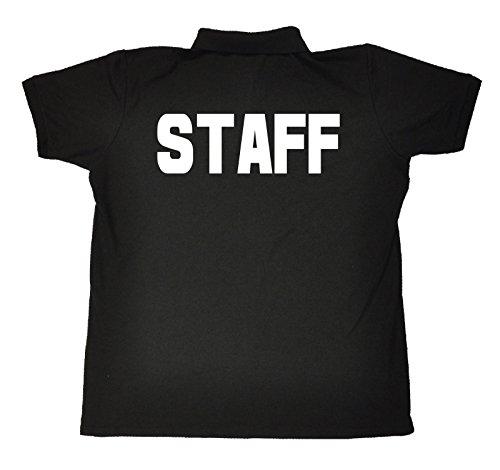 JNR Workwear Herren Poloshirt Staff Brust und Rücken Premium S-XXXL Schwarz