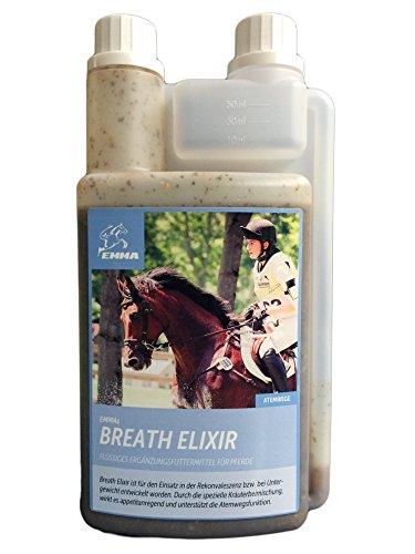 Integratori di Emma Breath Elixir-Cavalli liquido mangimi 1litro