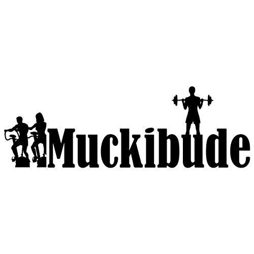"""Wandkings Wandtattoo """"Muckibude"""" 50 x 16 cm schwarz - erhältlich in 33 Farben"""