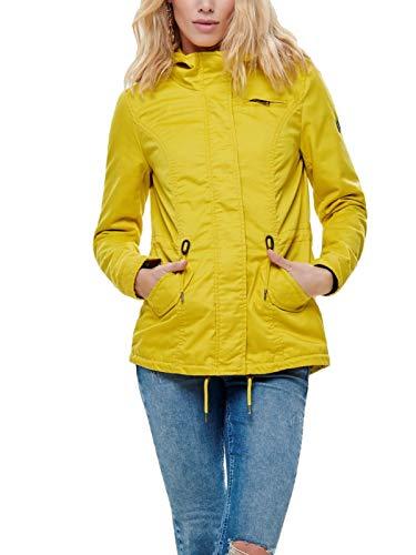 ONLY Damen Parka Übergangsjacke Kurzmantel Kapuzenjacke (38 (Herstellergröße: M), Yolk Yellow)