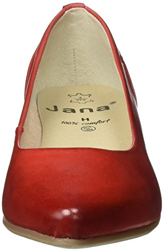 Jana 22200, Scarpe con Tacco Donna Rosso (Chili 533)