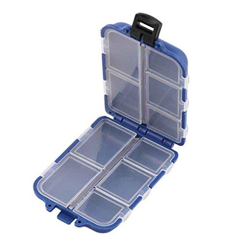 MUANI 10 Compartments Aufbewahrungskoffer Box-Fliegen-Fischen-Köder Löffel Haken Köder-Gerät-Kasten