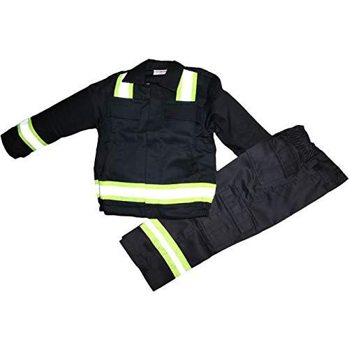 Feuerwehranzug für Kids Komplettset Feuerwehrmnn Kostüm (122/128)