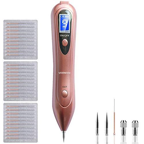 - Leestar Maulwurf Entfernen Professioneller Schönheits-Stift, mit 9 Stärke Stufen für Gesicht und Körper, Entfernung Warzen, Nävus, Muttermal, mit LCD-Bildschirm, USB Aufladbar ()