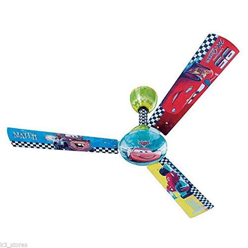 Bajaj Disney Cars Premium Ceiling Fan 3 Blade 1200 mm CR01 for Kids