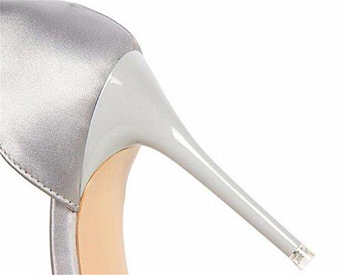 FLYRCX Modo semplice e sottile scavata shallowly conicità lady del tacco alto scarpe di partito,36 37