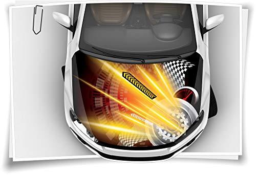 Medianlux Motorsport Gelb Flagge Karo Motorhaube Aufkleber Autoaufkleber Airbrush RapidAir Tuning