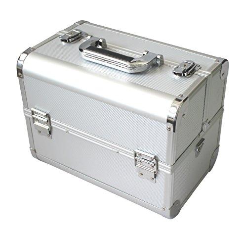 Preisvergleich Produktbild KScase Aluminium Kosmetikkoffer Reisegepäck Werkzeugkoffer 320x210x247 mm Silber