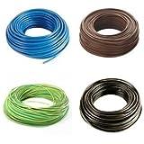 Cable eléctrico de unión unipolar, 1,5 mm de diámetro, bobina de 100 m, varios colores