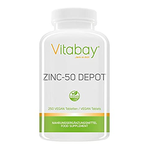 Zinc-50 Depot - 25 mg Zink (Elementargehalt) pro 1/2 Tablette