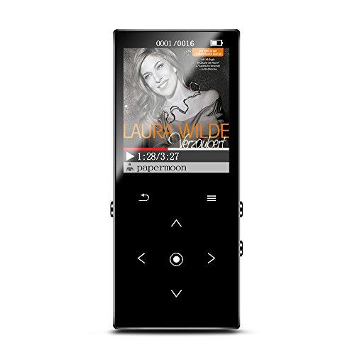 KAYOWINE 8GB Bluetooth MP3 Player mit TF-Karte Expansion Buchse FM Rdio, Aufnahmefunktion Musik Player mit 1,8 Zoll Bildschirm für fotos, E-Book(deutsche Schnittstelle)(8GB Bluetooth)