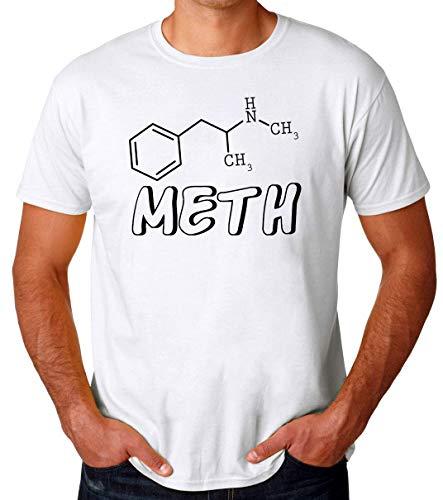 Meth Molecule Formula Männer T-Shirt Medium -