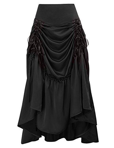 Mujer Vintage Plisada Faldas Punk Rock Gótico Asimétrico Falda...