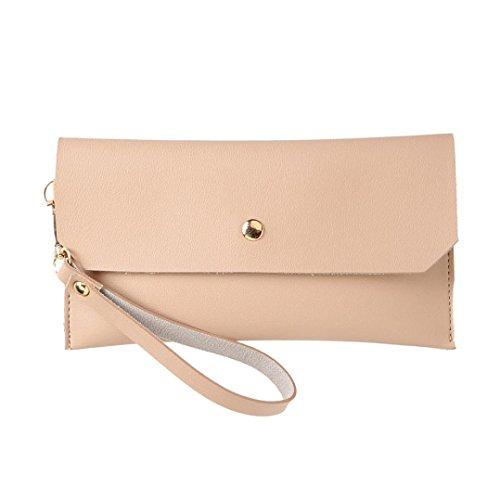 Longra la moda femminile braccialetto, borsa, portafoglio zero Rosa