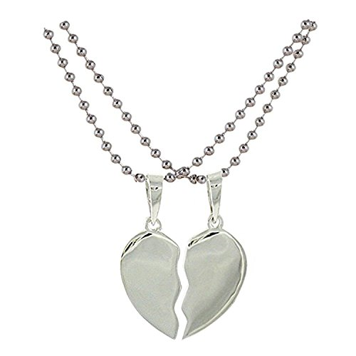 Quail Silver Broken Heart Pendant with Chain for Women & Girls / Pendant for Women  available at amazon for Rs.160