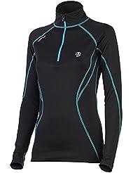 ternua transpirable para mujer/de fitness/de/Manga Larga De Exterior/Interior De Esquí/Merino Layer Lairg, talla XS, Negro UVP 89,95 euros