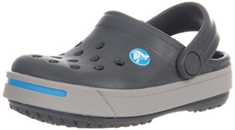 Crocs Crocband II Kids, Herren Clogs , Mehrfarbig - Multicolore (Charcoal/Light Grey) - Größe: 22/24