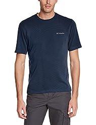 Columbia Sun Ridge Ii Crew - Camiseta de fitness para hombre, color abyss, talla M