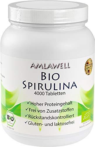 Amlawell Bio-Spirulina Tabletten / 1000g / 4000 Presslinge/BIO - DE-ÖKO-039 (1)