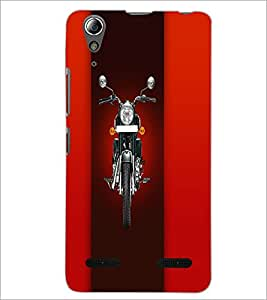 PrintDhaba Bike D-4458 Back Case Cover for LENOVO A6000 (Multi-Coloured)