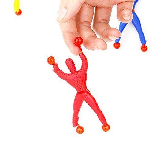 Asien 6Pcs Ventana orugas Wall Walker Novedad adsorción Spiderman Superman Mini Juguetes Figuras de Color al Azar