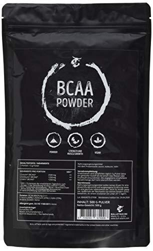 BCAA 500g Pulver - Big Pack XL | 100{e7176727f4b9db701d867a492a0c3e09c45544c8cfd1c1617ffa78d2145edcbc} Rein ohne Zusätze | L-Leucin + L-Isoleucin + L-Valin | Im Verhältnis 2:1:1 | Essentielle Aminosäuren | Antikatabol + Anabol | Muskelaufbau, Muskelschutz & Regeneration | Top Qualität made in Germany