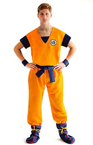Original Kostüm D'halloween - CoolChange Drachenball Son Goku Cosplay Kostüm (L)