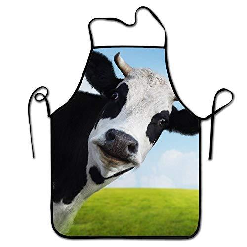 mfsore Liubajsdj-Waist Einstellbare professionelle Küche Schürze-Kühe in der Wiese-Frau Schürzen bequem perfekt zum Kochen Guide