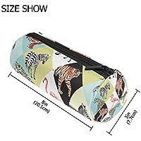 7d9a364476 Tizorax Tiger Leopard Flamingo Zebra matita della penna organizzatore trucco  Costmetic cerniera borsa moneta del sacchetto