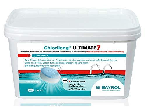 Bayrol Poids total Ultimate 7 deux phases chlore Tablette à 300 g contenu 4,8 kg