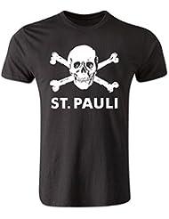 St Pauli Skull and Crossbone T-Shirt (Black)