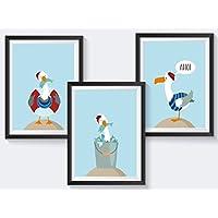 Kinderbilder Tiere Set Kinderzimmer Poster maritim Kinderbilder maritim - A4 oder A3