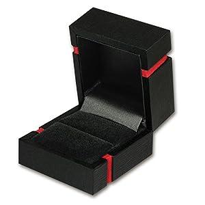 IMPPAC Ring Schachtel Schmuck Etui schwarz Geschenk-Verpackung Ringschachtel 50x54x38mm VE110
