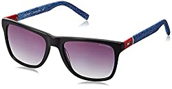 Tommy Hilfiger Gradient Wayfarer Mens Sunglasses - (7875 Blkgr-35 C1 55 S|55|Grey Color)