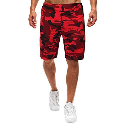 Setsail Herren Sommer Freizeit Camouflage Overalls Fashion Multi-Pocket-Hosen 5-pocket Drawstring Cargo