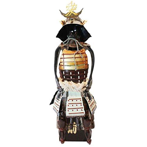 mwpo guerriero giapponese piccola armatura modello, antica arte del ferro ipertiroidismo figura da collezione decorazione desktop del desktop disposizione degli arrangiamenti utilizzato per bar c