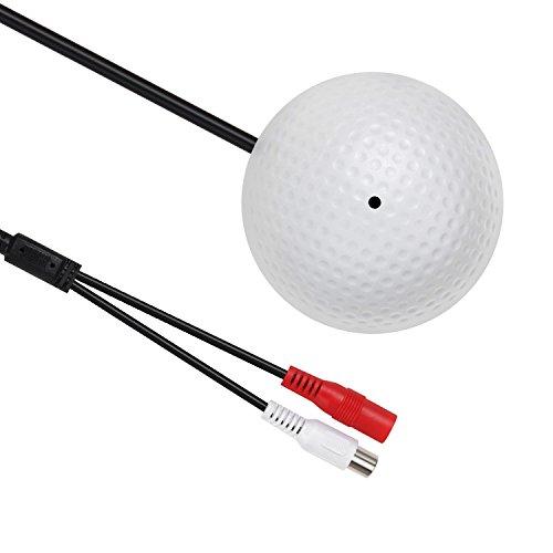 Yilan High-Sensitive-Vorverstärker, Audio-Tonabnehmer-Gerät, winziges Spion-Mikrofon für Sicherheitskamera, Überwachungskamera, Überwachungs-System, Ton-Stimm-Überwachungsgerät mit Warnung