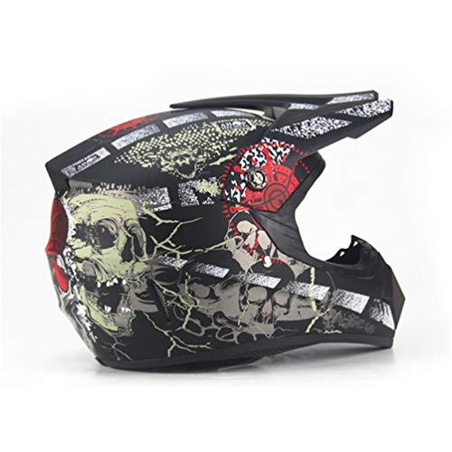 Qianliuk Road Motorrad Helm Adult Motocross Helm ATV Bike Downhill Racing Helm Kreuz Helm - Helm Motorrad Lazer